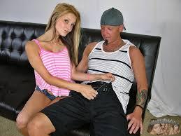 A slim blond giving a handjob from Raymond
