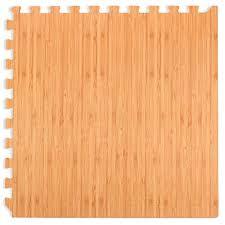 amazon we sell mats forest floor grain interlocking foam anti fatigue flooring 2 x2 tiles light bamboo sports outdoors
