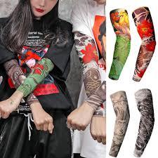 дизайн рукава татуировки упругие руки татуировки рукав пустой хны конусов ткань