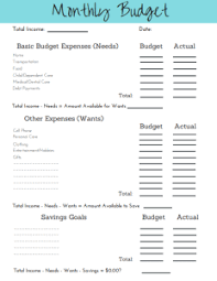 2019 Simple Budget Template Printable Free Simplified Motherhood