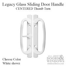 legacy sliding glass door handle center thumb turn choose color
