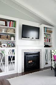 diy fireplace built in tutorial