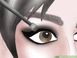 image led do emo makeup step 11