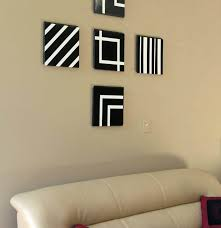 bedroom wall decor ideas cool simple black white strip on diy room artwork fun easy to