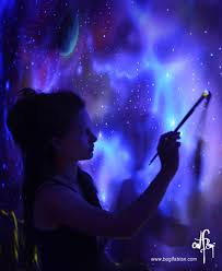 when the lights go out my glowing murals turn these rooms into dreamy worlds bored panda