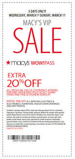 20% Printable Coupon at Macy s Wayne NJ