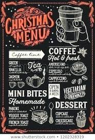 Chalkboard Menu Templates Coffee Shop Menu Template