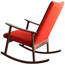 rc01 upholstered rocking chair in black walnut by jason lewis furniture for