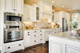 Rectangular Kitchen White Kitchens With Granite Countertops Large White Finished