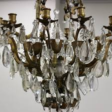 great 1930s french bronze crystal chandelier
