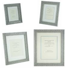 details about ornate silver shabby chic vintage picture frame white silver mount 6x4 12x8 p