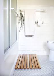 cedar bath mat for spa bathroom decorating