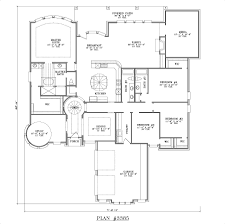 good 4 bedroom 2 story house plans on house plans 2400 square foot home 1 story