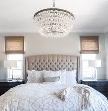 Master Bedroom Linen Bed Roman Shades Cream Bedding Calming