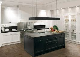 Black Kitchen Cabinets White Kitchen Cabinets With Black Island