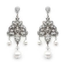 pearl chandelier bridal earrings