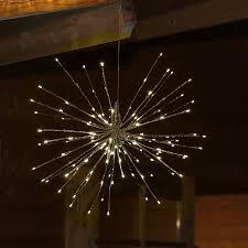 Led Stern Lichterball Mit 129 Led Warmweiß Beleuchtet 55 Cm Für Außen