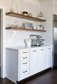 kitchen with herringbone pattern tiles
