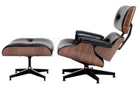 replica eames lounge chair and ottoman black. replica charles eames lounge and ottoman - black walnut image 2 chair e