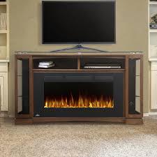 napoleon shelton 42 inch electric fireplace a console burnished walnut lifestyle