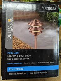 Portfolio Low Voltage Landscape Audio Path Lighting Portfolio Copper 3 Tier Low Voltage Landscaping Path Light 30323 Led Bulb