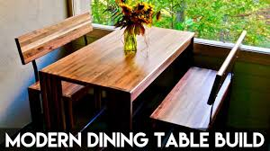 modern dining table with bench. Modern Walnut Dining Table And Benches | How To Build - Woodworking With Bench N