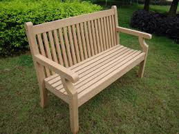 small image of sandwick winawood 3 seater wood effect garden bench teak finish
