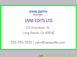 business cards with word how to make business cards in microsoft word with pictures