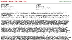 structure of a covering letters aircraft structure cover letter