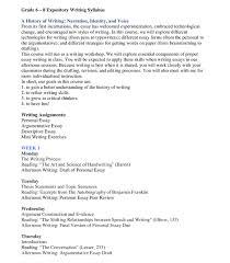 Sample Expository Essay Expository Writing Syllabus
