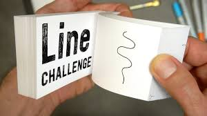 Flip Book With Photos Flipbook Line Challenge What Can I Do With Just A Line Youtube