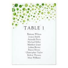 Zazzle Size Chart Green Polka Dots Seating Chart Wedding Table Plan Invitation
