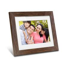 8 inch distressed wood digital photo frame with auto slideshow feature main image