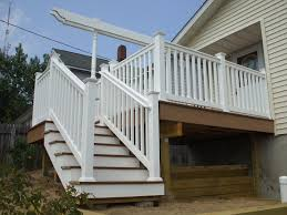 ... Incredible Home Exterior Design Ideas Using Deck With Stairs :  Incredible Home Exterior Decoration With Deck ...