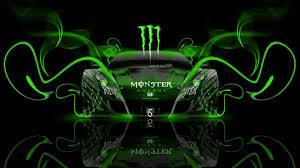 monster energy honda hsv neon plastic car