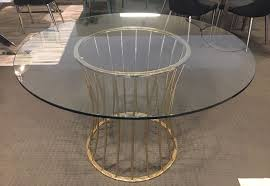charlie round glass dining table