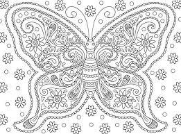 Anti Stress Kleurplaten Vlinders 6