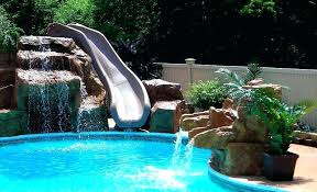 in ground pools with slides. Brilliant Ground Pool Residential Water Slides Concrete Slide For Inground  And In Ground Pools With Slides D
