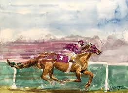 easy watercolor horse painting the secretariat
