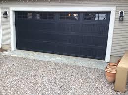 top garage door color black dark gray an door