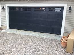 top garage door color black dark gray an door