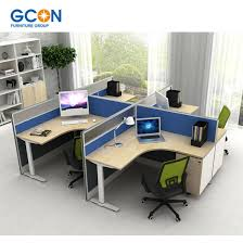 modern office cubicle. Modern Office Workstation Desk For 4 Person Small Cubicle