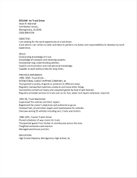 Resume Samples Driver Resume Example Sampleresumeformats Stunning