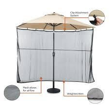 h universal patio umbrella shade screen
