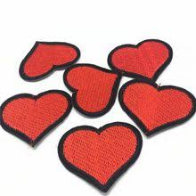 <b>50pcs Love Heart Patch</b> Iron On Heart Patches for Clothes ...