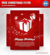Christmas Flyer Templates Christmas Flyer Psd Template Free Psd Files