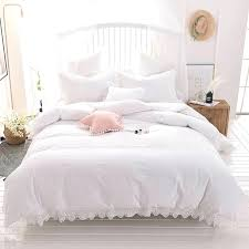 whole cotton bedding set duvet cover sets soft bed linen flat sheet pillowcase king size comforters cotton reversible bedding set 100 mercury row