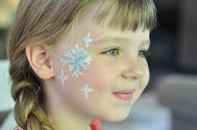 face paint snowflake step 5 suburble com 1