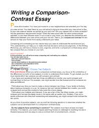 comparison and contrast essay example contrast essays how to do a compare and contrast essay how to start