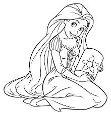 Scarica E Stampa Immagini Rapunzel Da Colorare Disegni Da Colorare